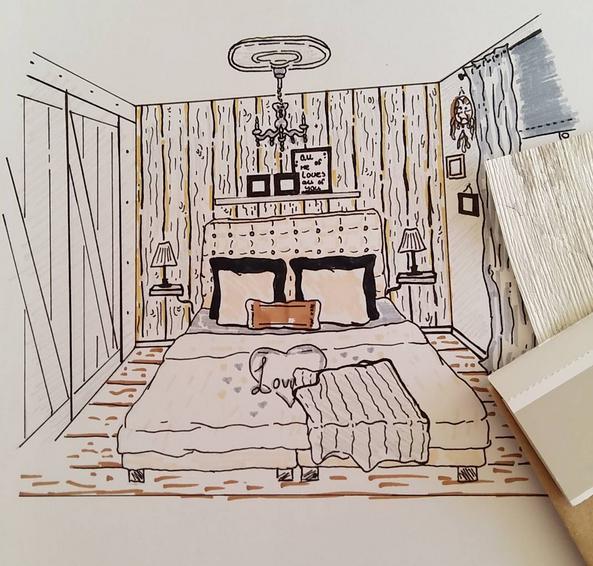 tekening-slaapkamer