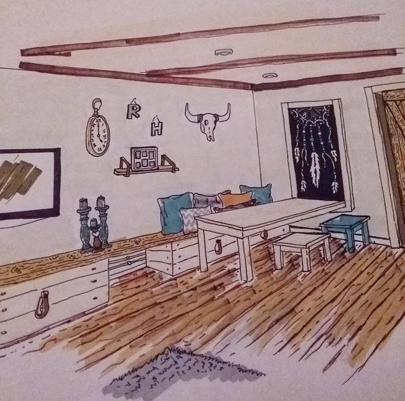 tekening-woonkamer